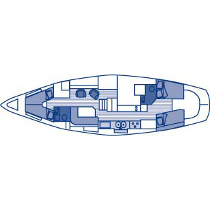 49' Hinckley Center Cockpit Sailboat - boat layout